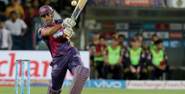 Dhoni Hitting Longest Six of IPL 2016