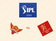 SRH vs RCB IPL 2016