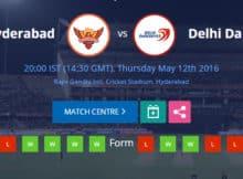 SRH vs DD IPL